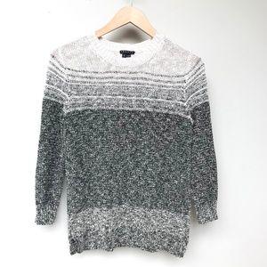 EUC Theory Knit Striped Sweater  Gray White S-P